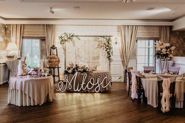 sale weselne w stylu romantycznym kujawsko pomorskie