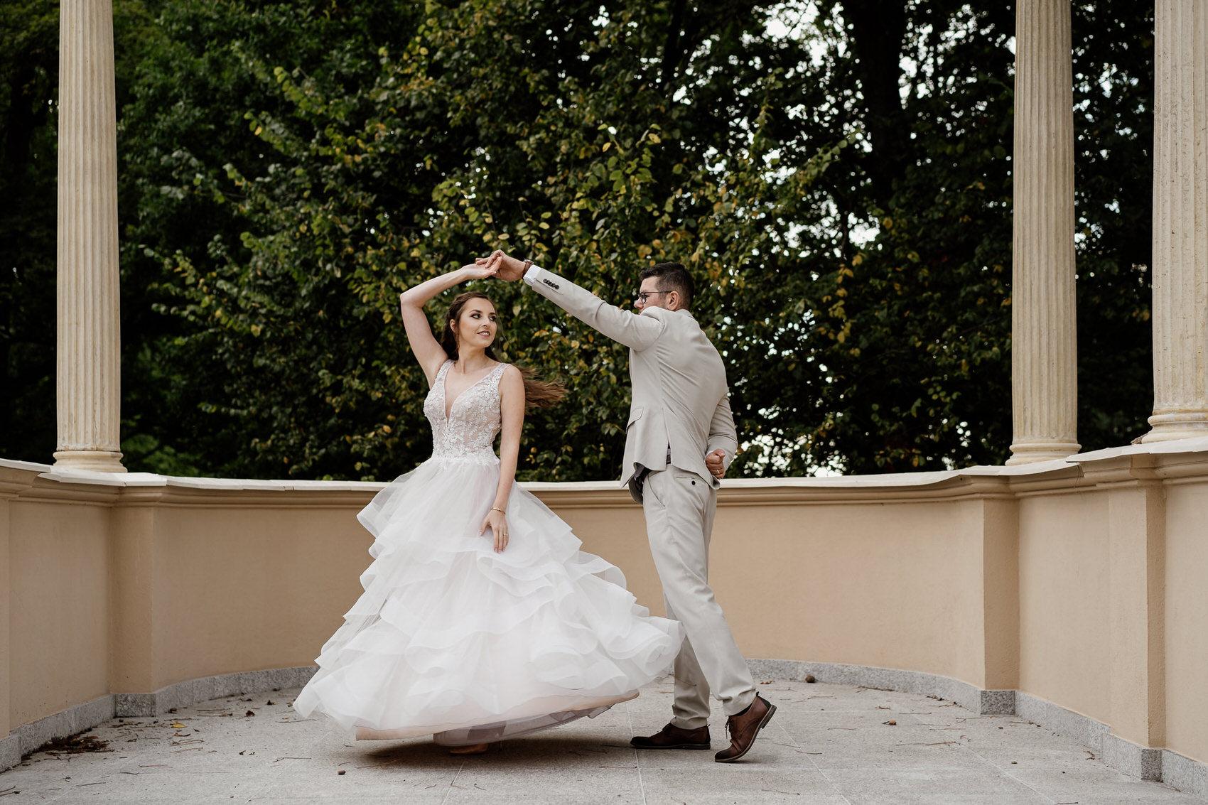 Sesja ślubna w stylu glamur