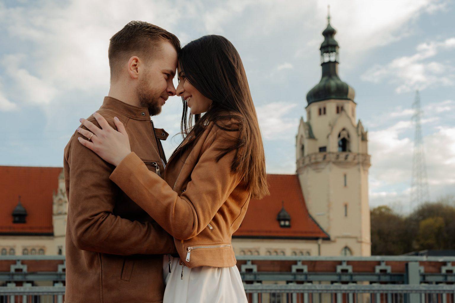 sesja narzeczeńska starówka Bydgoszcz